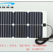 柔性太阳能电池板18V20W车载配资平台12V蓄电池家用照明系统供电图片