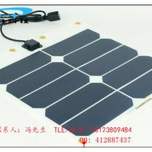 柔性单晶硅太阳能电池板组件10W5V户外登山露营手机充电宝USB风扇供电图片