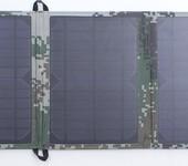 厂家低价直销单晶硅太阳能电池板折叠包5V20W户外山区充电宝6V蓄电池供电