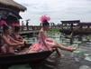 江南旅游高低篷观光木船电动船摇橹船手划船仿古旅游观光木船厂家