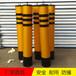 定做道路口钢管警示柱交通分道口防撞隔离柱反光效果强