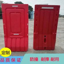深圳龙岗商业城临时全封闭施工活动围挡1.8米高红色高栏水马围挡图片