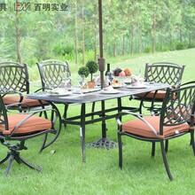 百馨户外别墅庭院休闲家具铝艺餐饮阳台桌椅图片