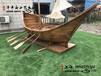 杭州公園裝飾船陸地船景觀木船廠家直銷小木船兩頭尖養花船