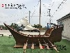 厂家供应海鲜酒店餐饮装饰木船仿古帆船定做做旧海盗船精美多用途船