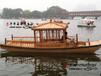 武漢木船旅館廠家特供電動觀光船,公園景區電動船,游玩小畫舫