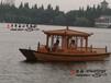 江西木質旅游船廠家批發手劃小木船高低篷木船單亭船單篷船電動觀光船