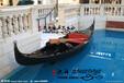 贡多拉生产厂家批发欧式木船贡多拉船独木舟养花贡多拉豪华真皮坐垫贡多拉电动游船
