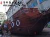 厂家直销天津沙滩海盗船儿童游乐船定做手工欧式木船景观船装饰船