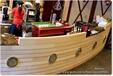 深圳木质装饰船沙盘木船大厅景观船