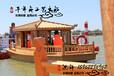 单亭船采购上海中式木船手工定做带亭子的船休闲娱乐木船小木船批发