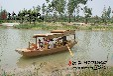 崇明农家乐木船定做度假村手划船会所单篷船