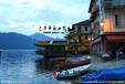 景观装饰贡多拉5米软包沙发可加装电动动力,欧式木船