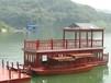 廠家定制雙層餐飲畫舫船電動觀光旅游船玻璃鋼畫舫木船
