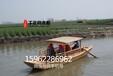 千年舟木船提供优质景区观光游船载客旅游餐饮娱乐休闲一体的电动木船