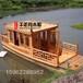 帶亭子的旅游船廠家定做那里有木質亭子船多少錢觀光船旅游船中式木船