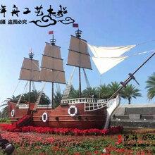 千年舟木船南京大型装饰船厂家户外景观船专做