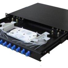 掛墻式滿配加厚8口ST光纜終端盒光纖熔接盒保護盒