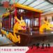 厂家定制双龙腾飞画舫船仿古餐饮木船电动玻璃钢游船