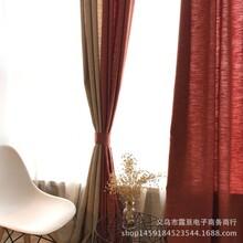 厂家直销加厚细棉麻双色麻彩虹麻亚麻色织麻客厅窗帘布料批发