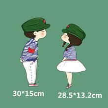 海魂衫模范夫妻T恤卫衣烫画现货耐水洗模范夫妻情侣服装过粉烫画