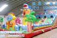 厂家直销迪士尼公主图案儿童充气蹦蹦床滑梯组合室内外跳床滑滑梯