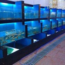 惠州定做鱼缸定做海鲜池大型酒店大理石鱼缸定做厂家图片