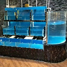 广州酒楼的海鲜池、移动式海鲜池、不锈钢冰鲜台图片