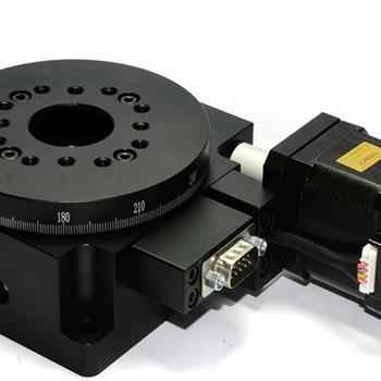 厂家研发60mm电动旋转台DC60-40W电动微调架