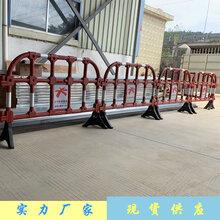 道路施工临时塑料护栏分道隔离市政胶马可反复使用图片