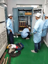 进口数控机床专用稳压器SBW-400kva三相大功率补偿稳压器上海言诺图片