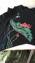 广州惟彩服装手绘厂,服装手绘加工,包包手绘加工,鞋子手绘加工图片