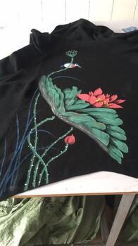广州惟彩服装手绘厂,服装手绘加工,包包手绘加工,鞋子手绘加工