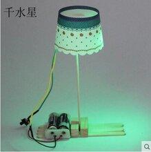 DIY玩具批发千水星小灯罩台灯1号diy小台灯科普模型手工材料包自制科技小制作模型台灯