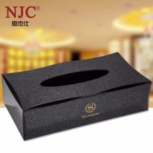 NJC-YA系列长方形亚克力纸巾盒定制批发可印logo图片