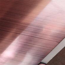 供应江门不锈钢彩色拉丝装饰板拉丝古铜不锈钢板生产厂家图片