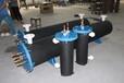 专业销售25P泳池热泵带法兰钛炮