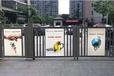 弘毅智能小區人行自動廣告門,天津制造人行小區廣告門制作精良