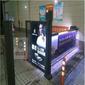 天津承接人行小区广告门售后保障,工厂人行道刷卡广告门图片