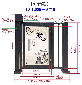 弘毅智能小区人行自动广告门,北京销售人行小区广告门制作精良图片