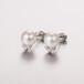 純銀耳飾天然珍珠貝殼珠飾品空托創意款耳釘廠家加工定做