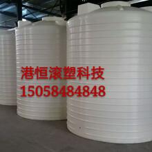 圆柱型PE水塔10000L升进口材质塑料水箱10吨化工搅拌桶耐酸碱塑料桶盐酸罐