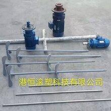 1.1KW两相电搅拌电机220V污水处理搅拌减速机不锈钢搅拌机