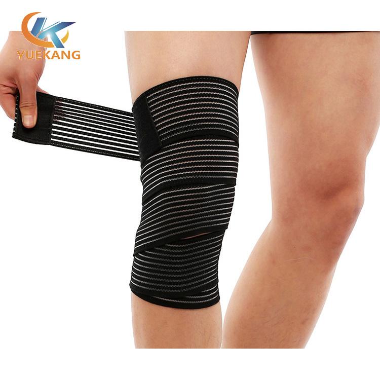 涤纶松紧绑带加压运动护膝绑带运动护膝深蹲举重绑带东莞运动护具厂家生产定制