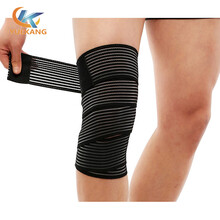 涤纶松紧绑带加压运动护膝绑带运动护膝深蹲举重绑带东莞运动护具厂家生产定制图片