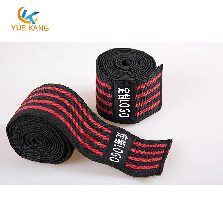 涤纶松紧运动护膝高端举重深蹲健身缠绕式护膝绑带运动护膝定制生产