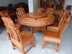 西安实木餐桌椅价格、老榆木餐桌尺寸、红木餐桌报价图片