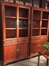 西安仿古书柜、实木书柜、红木书柜、老榆木书柜、中式书柜、定制厂家图片