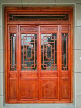 西安仿古门窗、实木门窗、松木门窗、寺庙门窗、古建门窗、中式门窗、定做厂家图片