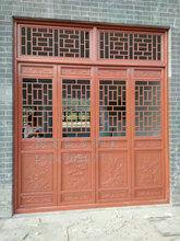 西安实木门窗厂家报价_松木门窗价格尺寸_寺庙门窗效果图片图片